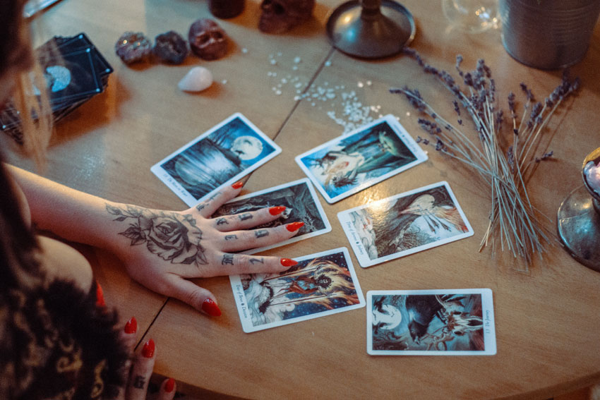 10 times to have a tarot card reading